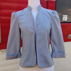 Vintage Blazer, 1970s Jacket, Vintage Clothes This is a beautiful vintage blazer from the 1970s/80s. It's light blue and had 3/4 sleeves. It best fits a size small. Vintage Jackets & Coats Blazers