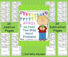 Great idea!! Do you need practice or assessment for word problems? This pack is exactly for you? It is absolutely NO PREP! There are 20 addition word problems featuring all of the a key words for addition. There are also 20 subtraction word problems containing all of the subtraction key words. This versital pack is useful for RTI or enrichment. All of these wonderful word problems are written with a March theme. Don't hesitate to download this great product. You'll be glad you did!