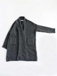 alpaca wool lily yarn cross collar one-piece