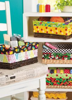Make your plain baskets pretty again with this simple DIY basket liner project!