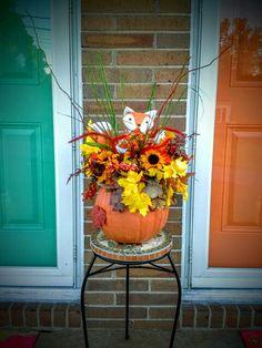 Foxy fall pumpkin