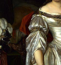 """""""Judith"""" (c. 1678) by Eglon Hendrik van der Neer (1634-1703) #Art #Detail"""