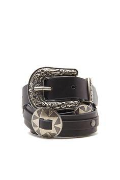 Concho Faux Leather Belt