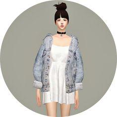 Vintage Denim Jacket Dress at Marigold via Sims 4 Updates
