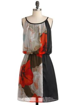 $89.99 Photographing Flowers Dress, #ModCloth