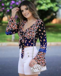 Lindo look, top! Boho Fashion, Fashion Looks, Womens Fashion, Summer Outfits, Cute Outfits, Estilo Boho, Sleeve Designs, Western Wear, Casual Dresses