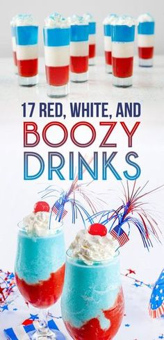 17 Ways To Get Turnt At Your Memorial Day or of July Party! Holiday Drinks, Summer Drinks, Holiday Treats, Holiday Recipes, Blue Drinks, Summer Parties, Mixed Drinks, Beach Party Drinks, Gourmet