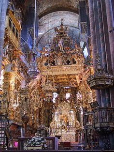 Cathedral of Santiago de Compostela! The most beautiful cathedral Randall and I have ever seen! The sermon was in Spanish however you did not need to understand the language to feel the power! Amazing!