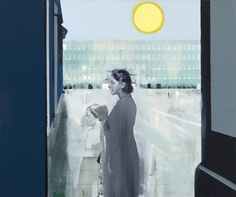 Kenneth Blom · The sun II · 2011 · 100 x 120 cm Unusual Art, Matte Painting, Oil On Canvas, It Works, Abstract, Artist, People, Drawing Art, Paint