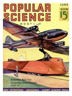 Front Cover of Popular Science Magazine: June 1, 1930 Premium Poster at Art.com