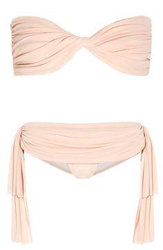 Femmes bandeau bikini r versible imprim bleu bretelles - Norma kamali costumi da bagno ...