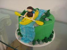 Fun kayak grooms cake
