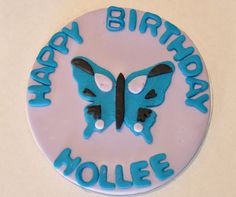 Butterfly Cake Topper Fondant Edible 6 INCH by iamladycupcake, $18.95