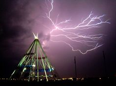 Lightning over the Teepee  Posted by: Kandyce // July 18, 2012  Medicine Hat, Alberta // Shot: July 17, 2012