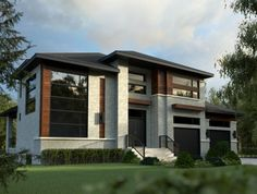 Nice Maison Moderne Interieur Exterieur that you must know, You're in good company if you're looking for Maison Moderne Interieur Exterieur Modern House Plans, Modern House Design, House Floor Plans, Small Modern Home, Modern Contemporary Homes, Prairie Style Houses, Archi Design, Building Exterior, Facade House