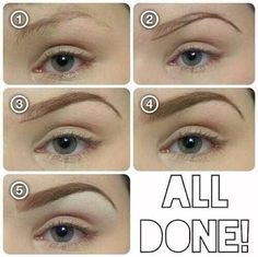 Eyebrow ...interesting – I always wondered how they did that...