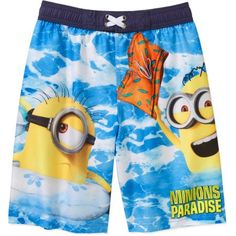 Minions Boys' Swim Shorts, Size: 4/5, Blue