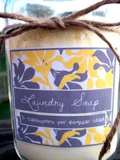 another laundry soap recipe & printable label
