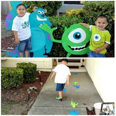 Monsters Inc. birthday bash July 2012: MONSTERS INC B-day party 2012
