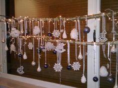 Kerst raam decoratie