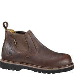 Carhartt Work Boots on BootBay Warm Boots, Cool Boots, Brown Boots, Anti Fashion, Mens Fashion, Carhartt Boots, Slip On Boots, Steel Toe, Leather Design