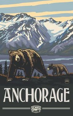Northwest Art Mall Denali National Park Alaska Grizzly Bears Artwork by Paul A. Lanquist, 11 by Sitka Alaska, North To Alaska, Anchorage Alaska, National Park Posters, National Parks, State Parks, Alaska Salmon Fishing, Alaska Travel, Alaska Trip