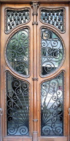 beautiful iron work in this door ~Barcelona, Spain