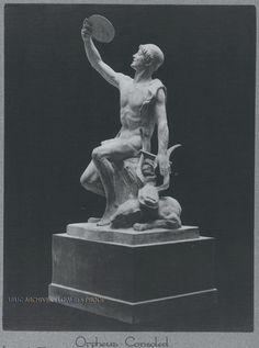 "Orpheus Consoled (Chicago): 10"" x 7.5"" Presented to Thomas Edison on his 75th birthday, Feb. 11, 1922."
