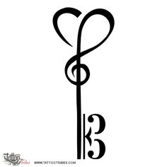 Tattoo music notes key