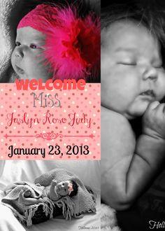 Jaslyn Announcement Baby Announcement