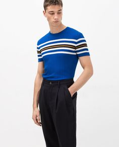Image 3 of SHORT SLEEVE RIBBED SWEATER from Zara