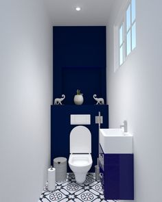 Discover recipes, home ideas, style inspiration and other ideas to try. Small Downstairs Toilet, Small Toilet Room, Toilette Design, Bathroom Design Luxury, Bathroom Design Small, Bad Inspiration, Bathroom Inspiration, Toilet Room Decor, Bathroom Shower Panels