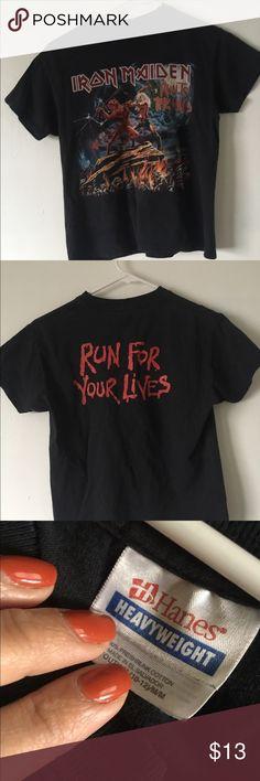 Girls small vintage Iron Maiden tee Small Girls Iron Maiden tee shirt Tops Tees - Short Sleeve