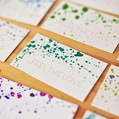 Come fare da soli i biglietti da visita con l'acquarello. #watercolor #businesscard