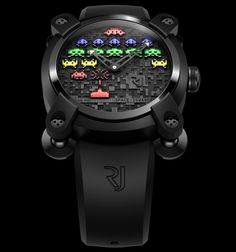 High-end Space Invaders Watch. By Romain Jerome #awesome