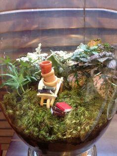 Whimsical terrarium