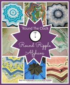 Round The Clock: 12 Round Ripple Afghans ~ free patterns
