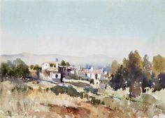 Edward Brian Seago (1910 — 1974, UK) Torremolinos, Spain. watercolour. 10 ¼ x 14 ½ in. (26 x 36.8 cm.)