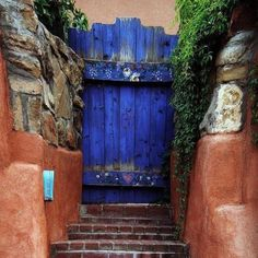 Challenge yourself with this Hidden Gate.Somewhere on Canyon Road jigsaw puzzle for free. Canyon Road, Door Knobs, Windows And Doors, Rustic Decor, Serenity, Beautiful Homes, Gate, Jigsaw Puzzles, Windows