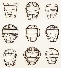 Vintage Baseball Catchers Masks