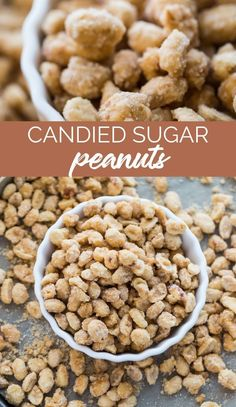 These Candied Sugar Peanuts have a crunchy sugar-coated layers and make a brilliant holiday snacks or addition to your sweet treats table. via @familyfresh