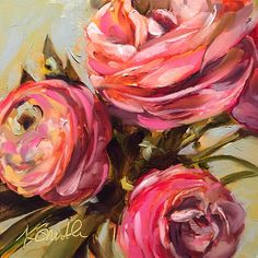 "Daily Paintworks - ""a little bit of magic"" - Original Fine Art for Sale - © Kim Smith Abstract Flowers, Watercolor Flowers, Painting & Drawing, Watercolor Paintings, Amazing Paintings, Rose Art, Art Techniques, Flower Art, Illustration Art"
