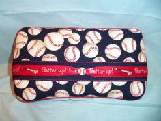 Custom Covered Baby Wipe Case Baseball Print by MimiDesigns1, $12.00