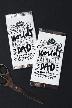 THE WORLD'S GREATEST DAD CHOCOLATE – FREE PRINTABLE – S A R A • W O O D R O W