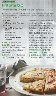 Master Frittata Recipe Egg Recipes, Brunch Recipes, Recipies, Healthy Recipes, Brunch Dishes, Breakfast Dishes, Breakfast Recipes, Breakfast For Dinner, Breakfast Time