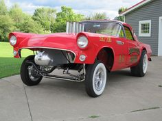 fast hot rods images | 1955 T-Bird Gasser » Fast Times Rods - Hot Rod Cars, 41 Willys ...