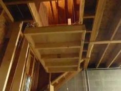 Attic elevator youtube how to 39 s pinterest elevator Garage attic lift elevator