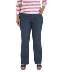 Lee Women's Plus-Size Classic Fit Carter Straight Leg Jean ...