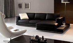 Cómo embellecer su Living Room con muebles de Cuero Negro : Diseño y Muebles