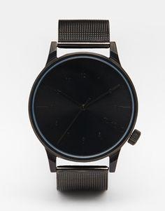 Komono Winston Royale Metal Watch In Black